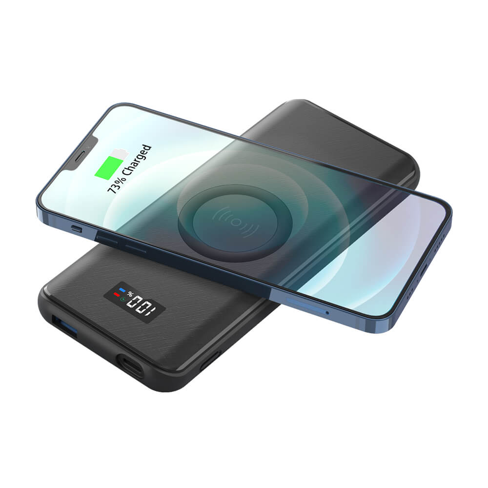rivate Label Portable Wireless Charger 10000mAh 15W Fast Charging Qi Wireless Power Bank