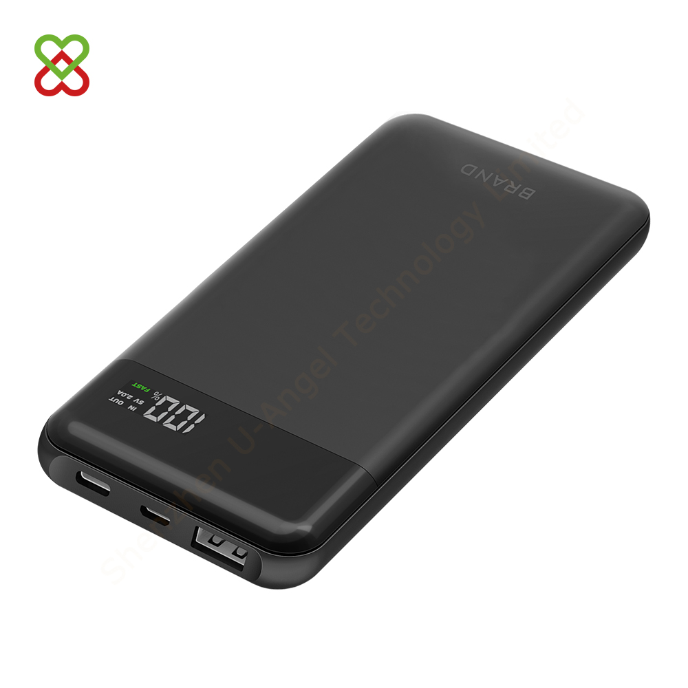 2018 unique PD 3.0 Type C 18W speed quick charge power bank 10000 mAh with digital display