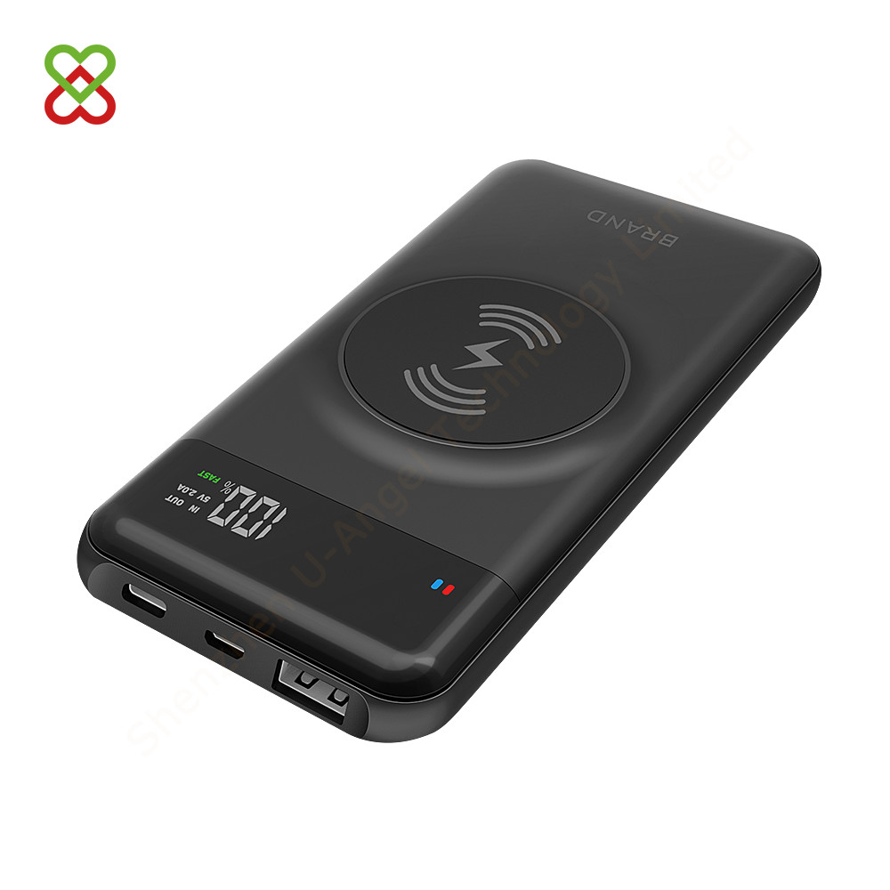 best seller RoHS CE FCC portable mobile PD QC 3.0 Qi wireless charger Type-C fast charging power bank 10000mAh