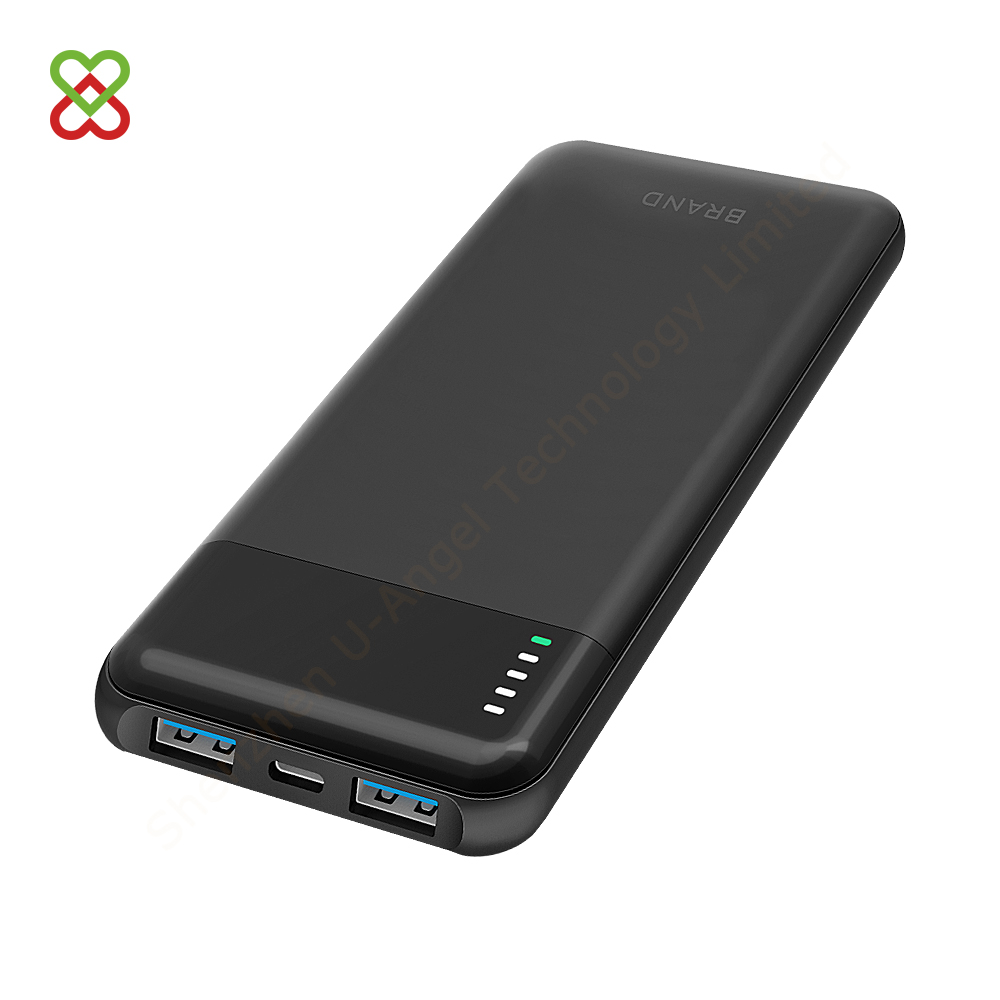 2 USB QC 3.0 Output Power Battery Bank10000mAh Pack Portable Charger