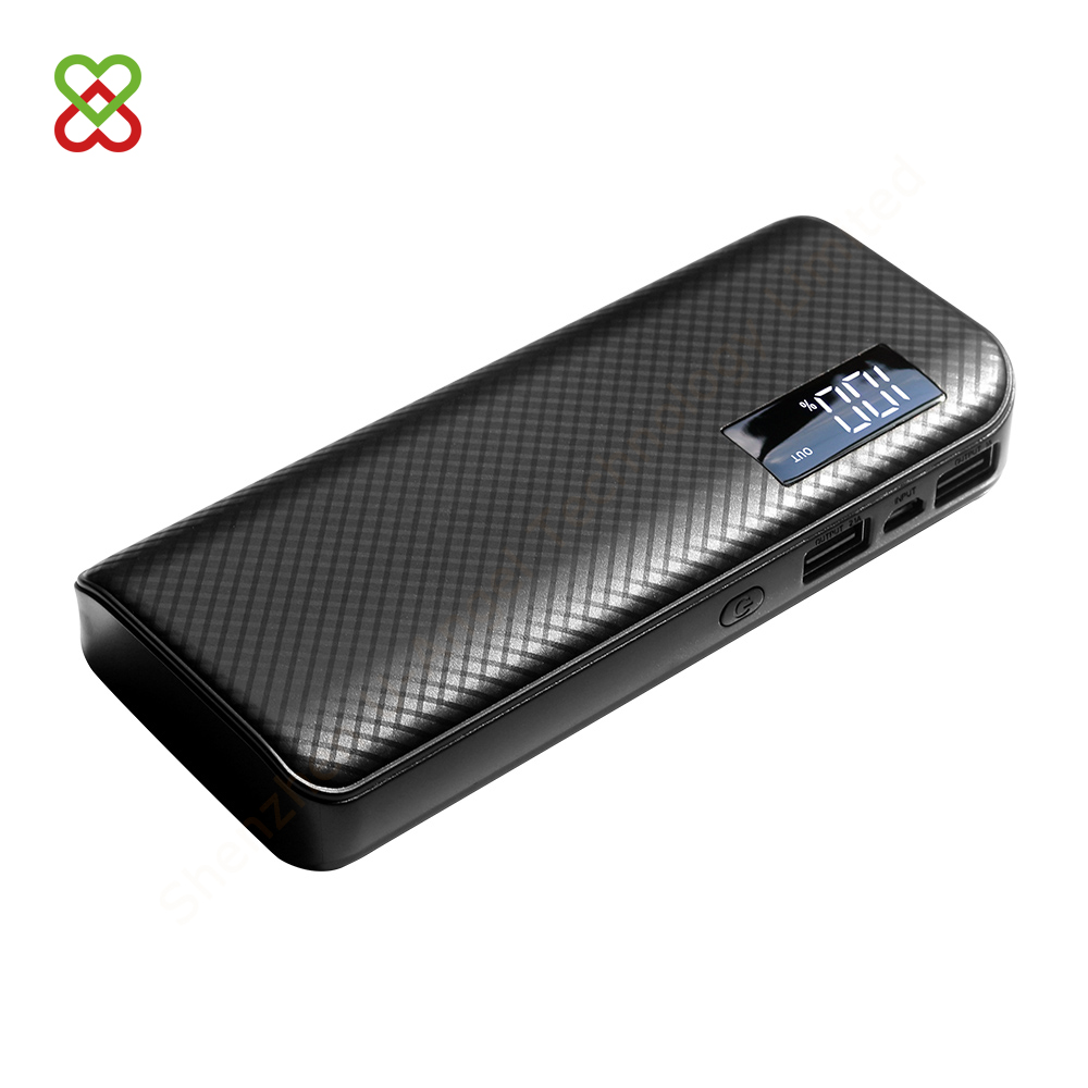 10000mAh portable super thin power bank with display