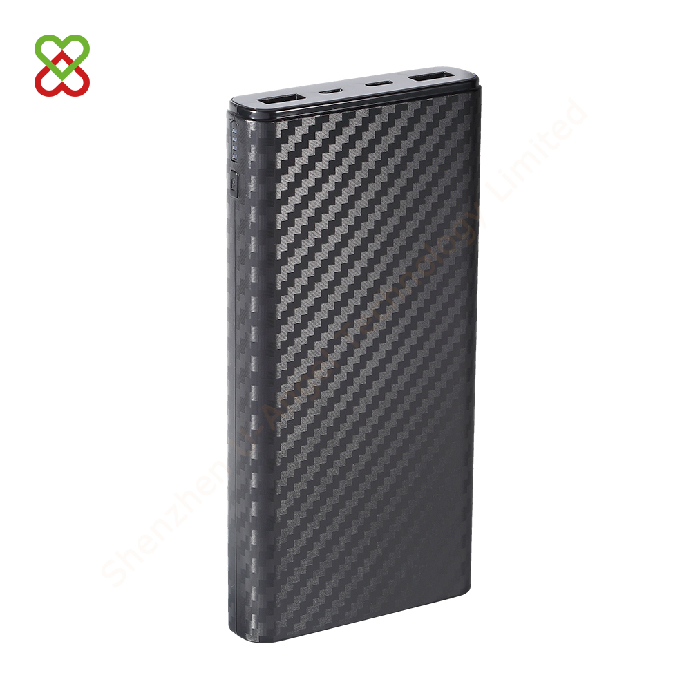 portable 9V 12V output PD function OEM external battery charger mobile phone power bank 20000mAh dual USB
