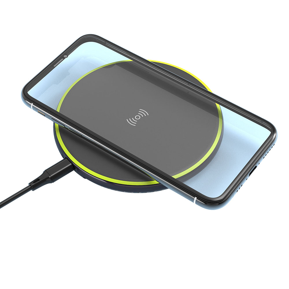 Cheapest Promotional Qi Charging Standard Round Metal Portable 10W Hidden Induction Charger Mobile Phone Wireless Charger Pad